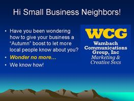 WCG Marketing Campaigns using Every Door Direct Marketing (EDDM)  with your local Post Office
